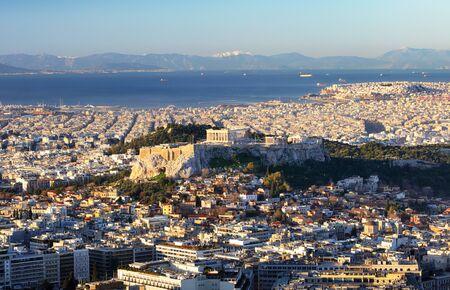 Greece - Athens skyline with acropolis