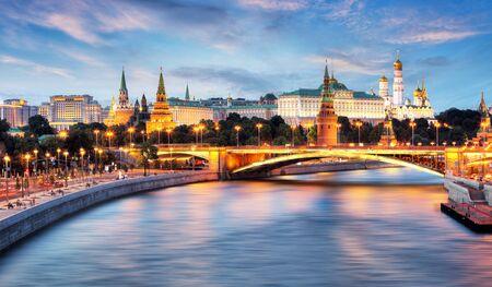 Moscú, Kremlin y río Moskva, Rusia