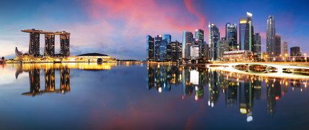 Singapore city skyline at night Editorial