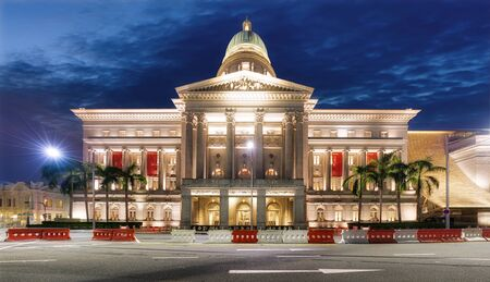 National gallery of Singapore at night