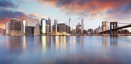 Horizon de la ville de New York, États-Unis