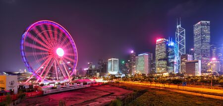 Hong Kong Observation Wheel in Central District of Hong Kong.