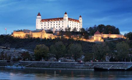 Slovakia capital city Bratislava, Castle at nigth