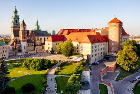 Wawel castle in Krakow, Poland Редакционное