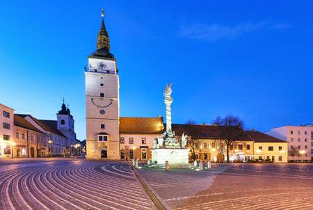 Trnava city - Slovakia, main square with tower