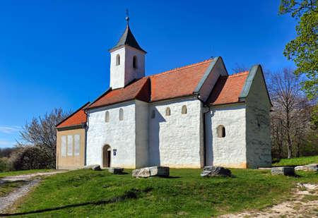 Old church in village Kostolany pod Tribecom, Slovakia