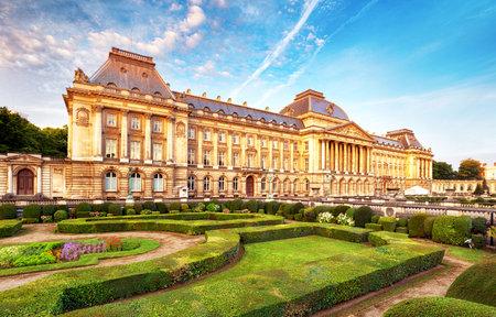 Belgian Royal Palace in Brussels Редакционное