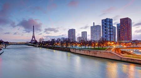 Cityscape of Paris with Eiffel Tower Редакционное