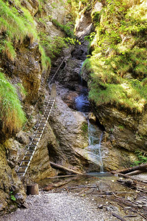 Sucha Bele - Misove waterfalls, Slovakia spring