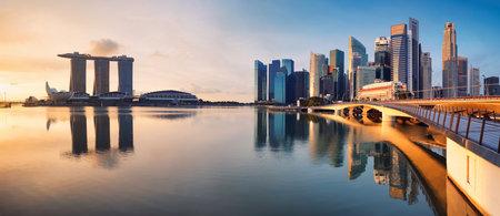 Singapore downtown at the sunrise Редакционное