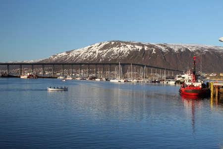 Harbor in Tromso, Norway.