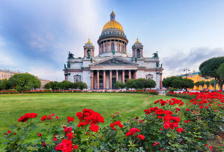 Saint Petersburg - Isaac cathedral at day, Russia.