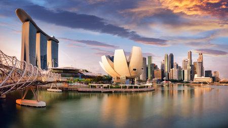 Singapore skyline - downtown city