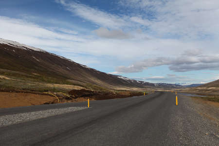 Volcanic landscape with road