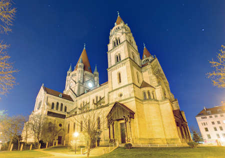 Vienna - St. Francis of Assisi Church, Mexikoplatz Reklamní fotografie - 163437979