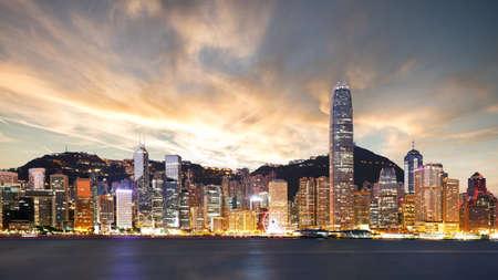 Beautiful view of Hong Kong at sunset Reklamní fotografie - 164481831