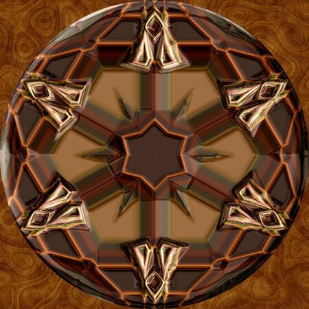 decorative shape: Abstract decorative shape - brown pattern