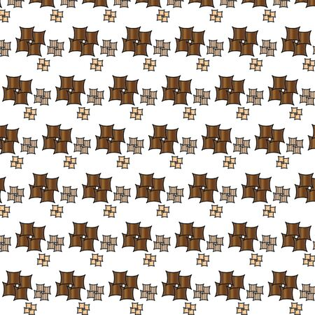 brown pattern: Decorative vector background - brown pattern