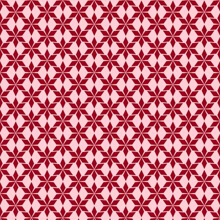 kaleidoscopic: Decorative red background - abstract kaleidoscopic pattern