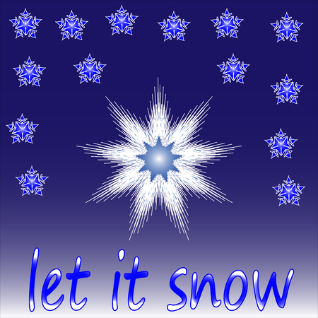 let it snow: Christmas , let it snow - blue pattern