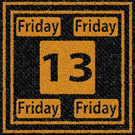 13th: Friday the 13th - coffee beans pattern Stock Photo