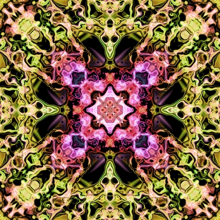 kaleidoscopic: Abstract decorative multicolor texture - kaleidoscopic pattern Stock Photo