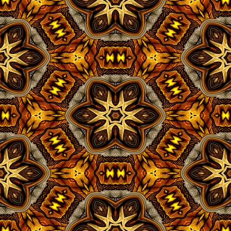 kaleidoscopic: Abstract decorative brown texture - kaleidoscopic ornamental pattern