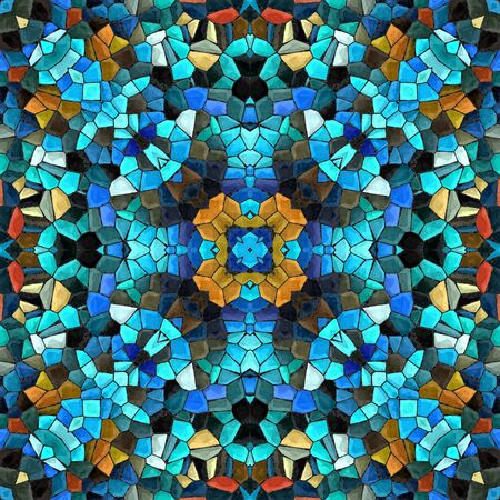 kaleidoscopic: Abstract decorative multicolor mosaic 3D texture - kaleidoscopic ornamental seamless pattern