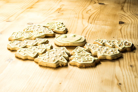 Homemade ginger cookies for Christmas and holidays