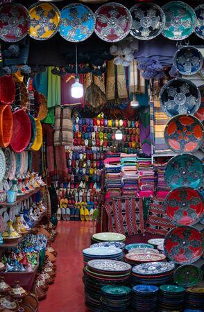 Morocco Decorative ceramics at the Marakesh market