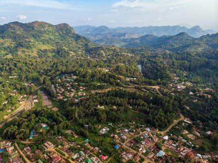 Lushoto village in Usambara Mountains. Remote Place in Tanga Province, Tanzania, Africa