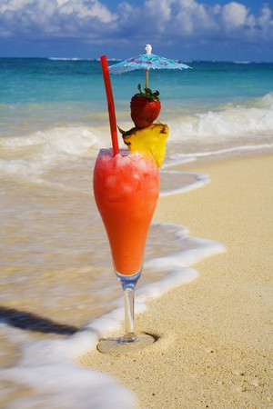 tropical drinks in hawaii photo
