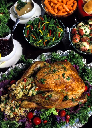 thanksgivingchristmasholiday dinner Фото со стока