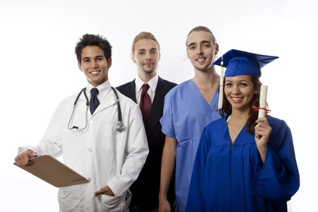 college graduate: team of young professionals Stock Photo