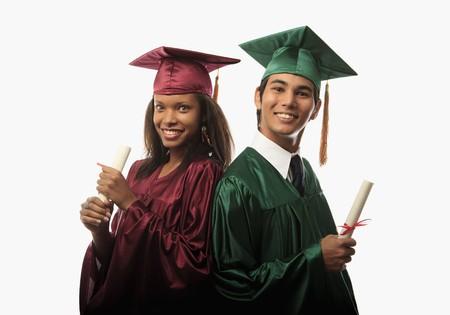Multi para rasowej w pokrywie i gown z dyplomem na Kresy