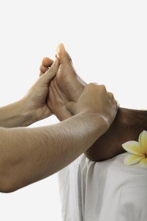 foot massage: healing touch of a masseuses hands