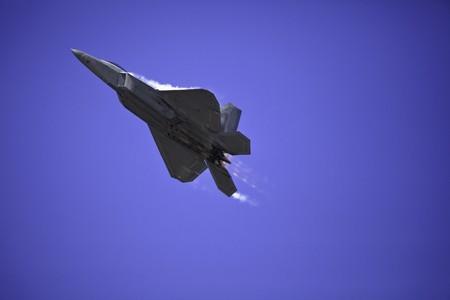 raptor: F-22 Raptor in flight over Hawaii Stock Photo