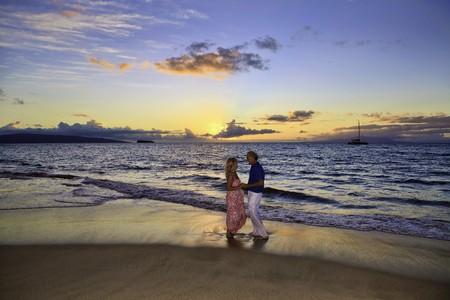 para wyższych chodzenia na plaży maui