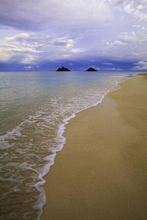 windward: dusk on the windward side of oahu