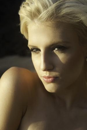 portrait of a blond irish australian girl