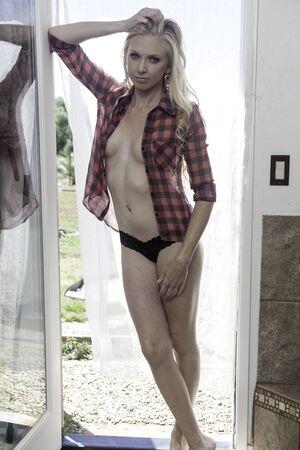 beautiful blond in her doorway