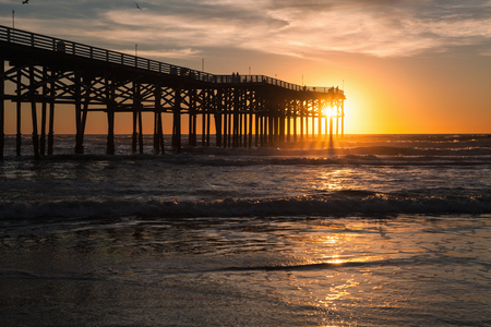 crystal pier san diego at sunset Banque d'images
