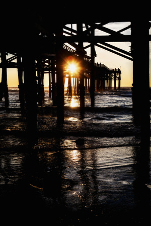crystal pier san diego at sunset Stock Photo