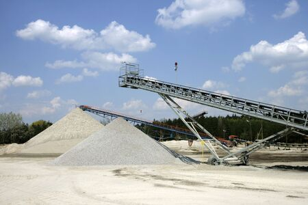 Mine of gravel Stock Photo