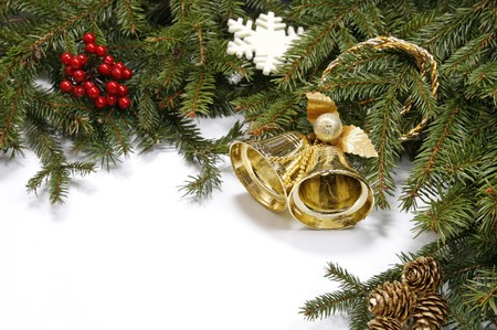 bordering: Decorative Christmas bordering the white background