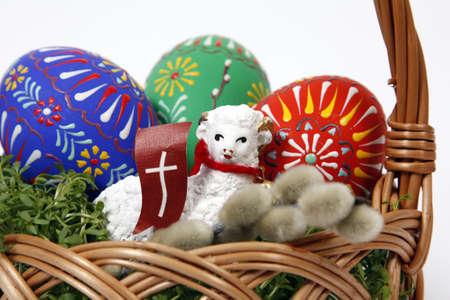 pasen schaap: De Mand van Pasen met eieren en Lam