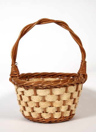The empty Easter basket  Stock Photo