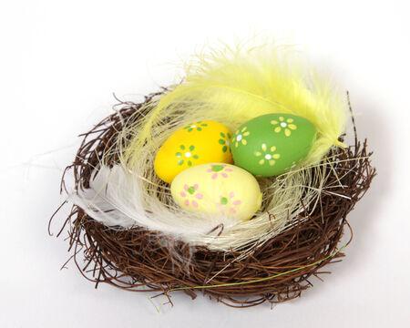 easter nest: The Easter eggs in the Nest Stock Photo