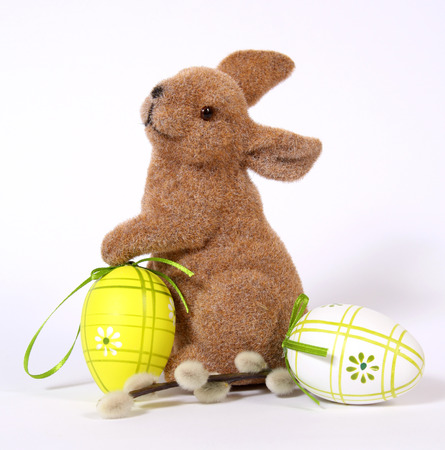 The Easter Bunny with Eggs  Stock Photo