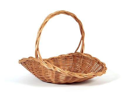 basket: The empty Easter basket